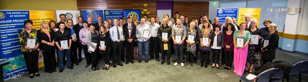 Award Recipients and their Employer Representatives at the Award presentation