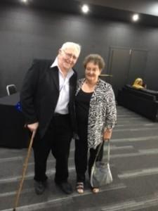 John Ward with Glenyse at Award Ceremony